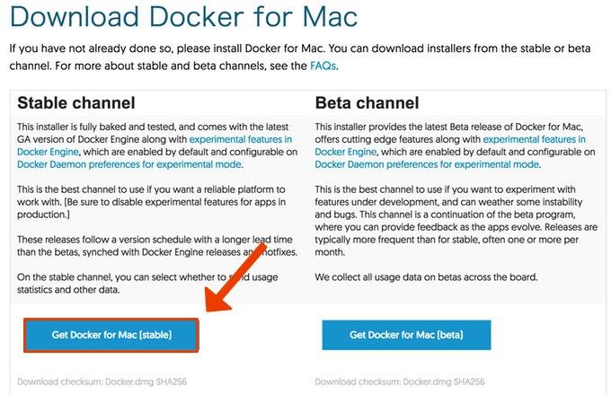 Dockerダウンロード